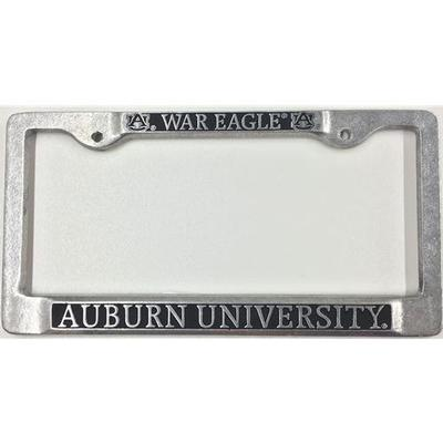 Auburn License Plate Frame Pewter War Eagle