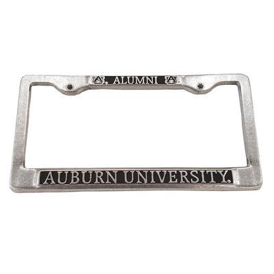 Auburn License Plate Frame Pewter Alumni