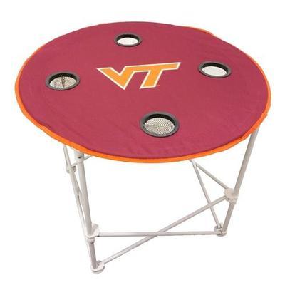 Virginia Tech Round Folding Table