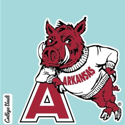 Arkansas Decal Vault Leaning Hog Logo (4