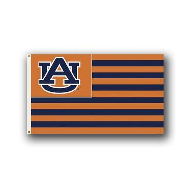 Auburn AUB Nation Striped Flag (3'x5')