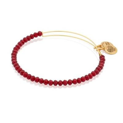 Alex and Ani Crimson Brilliance Beaded Bangle (Gold)