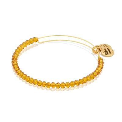 Alex and Ani Gold Brilliance Beaded Bangle (Gold Finish)