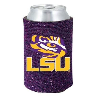 LSU Glittery Can Coozie
