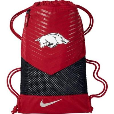 Arkansas Nike Vapor Gym Sack 2.0