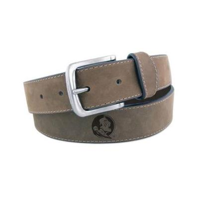 Florida State Embossed Leather Belt