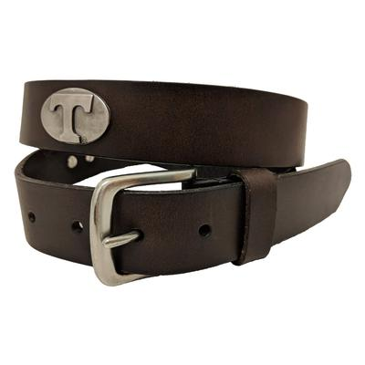 Tennessee Power T Logo Concho Belt (Brown)