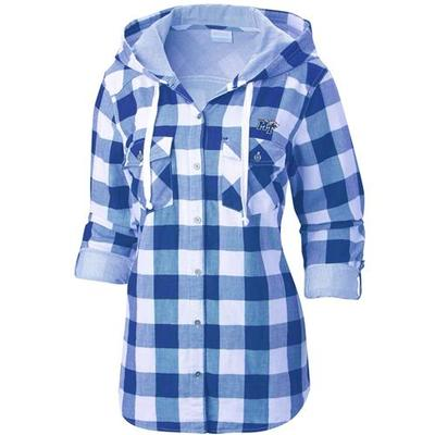 MTSU Columbia Women's Times Two Hooded Long Sleeve Flannel Shirt