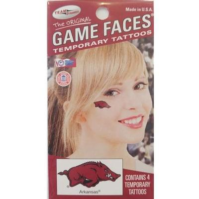 Arkansas Face Tattoos (4-Pack)