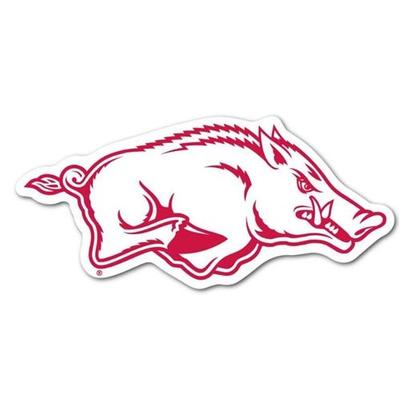 Arkansas Running White Hog Dizzler Decal (2