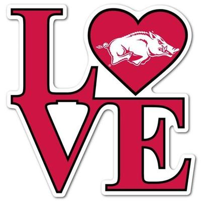 Arkansas LOVE Dizzler Decal (2