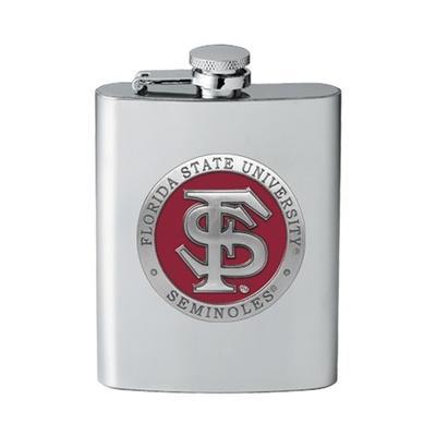Florida State Heritage Pewter Gar Flask (Garnet Emblem)