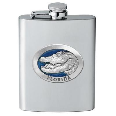 Florida Heritage Pewter Flask (Blue Emblem)