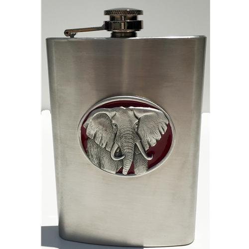 Alabama Elephant Emblem Flask