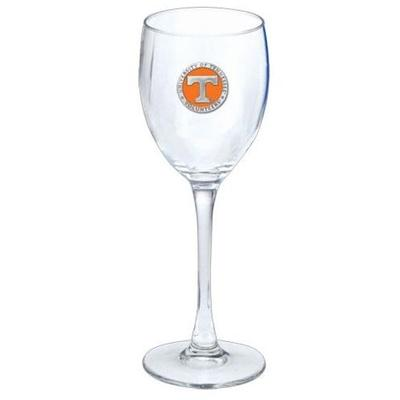 Tennessee Heritage Pewter 12oz Wine Glass (Orange Emblem)