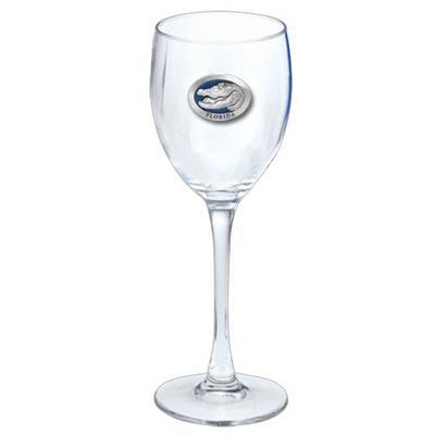 Florida Heritage Pewter 12oz Wine Glass (Blue Emblem)