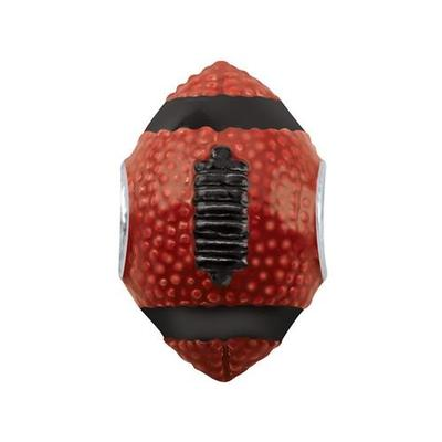 Red and Black 3D Football Charm Bead