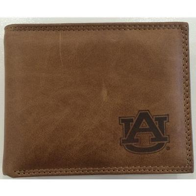 Auburn Embossed Leather Bifold Wallet