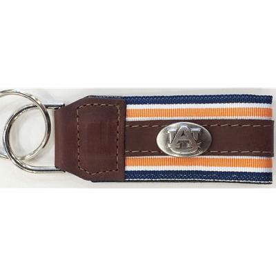 Auburn Leather Concho Key Chain