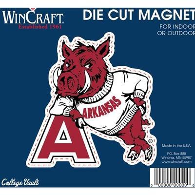 Arkansas Magnet Vault Leaning Hog Logo (4