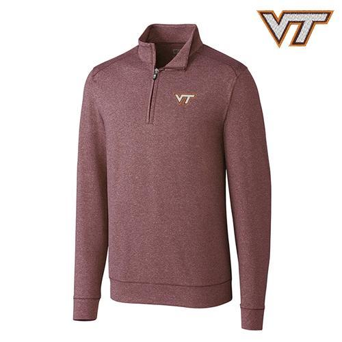 Virginia Tech Cutter & Buck Shoreline 1/2 Zip Pullover