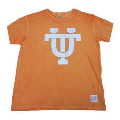 Tennessee Retro Brand Interlock UT Oil Wash Tee