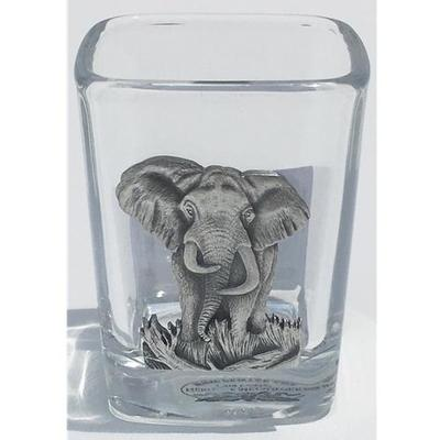Heritage Pewter Elephant Emblem Shot Glass