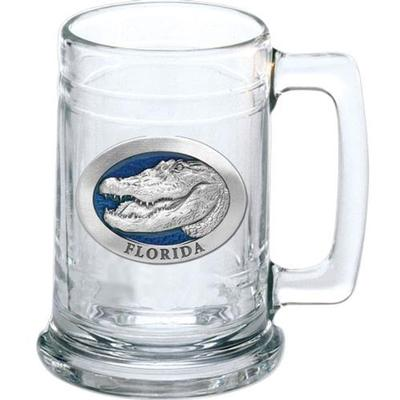 Florida Heritage Pewter Stein (Blue Emblem)