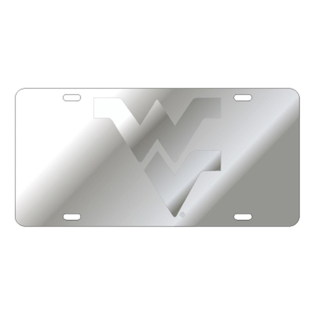 Wvu License Plate Silver With Wvu