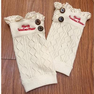 NC State Lace Boot Cuffs