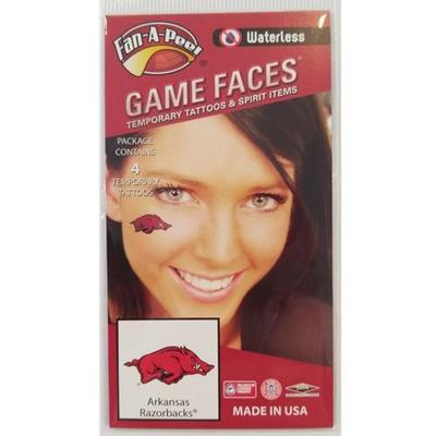 Arkansas Razorbacks Face Tattoos (Waterless)