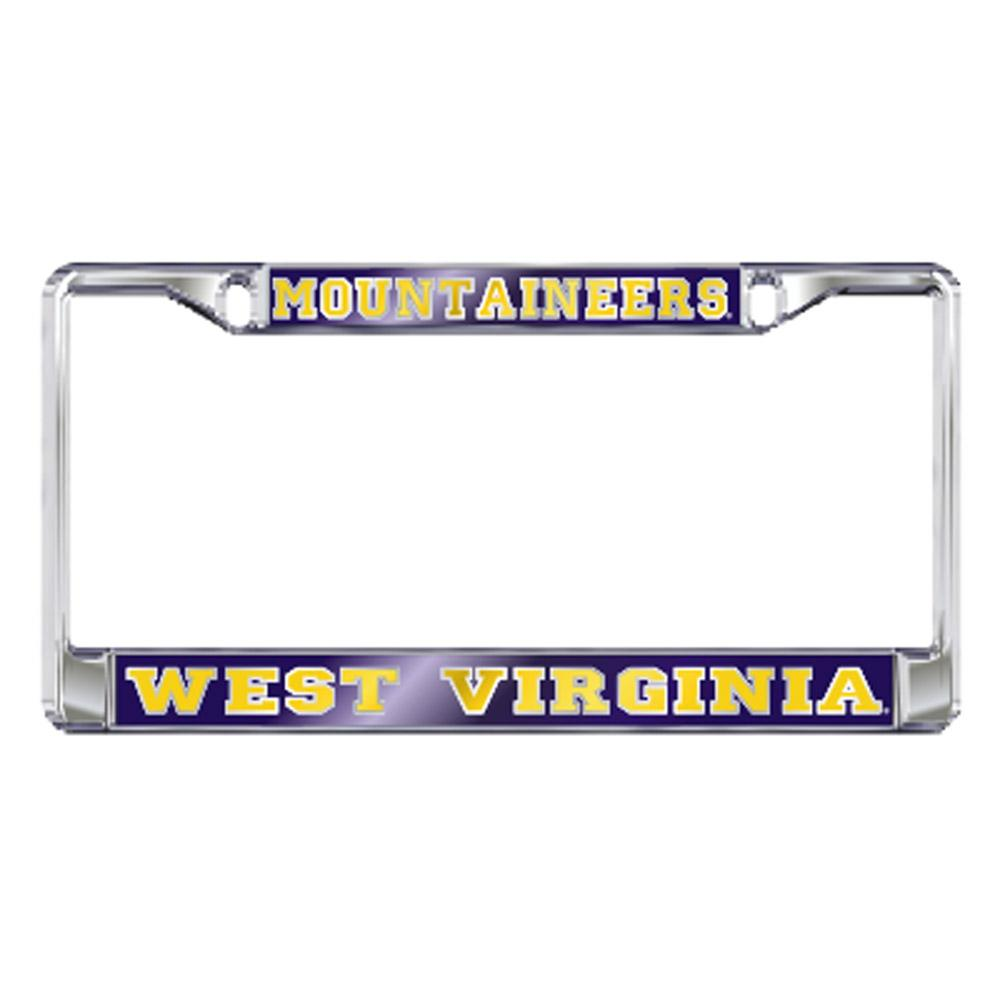 West Virginia License Plate Frame Mountaineers/West Virginia