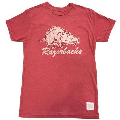 Arkansas Retro Brand Vault Running Hog Logo Tee