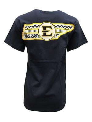 ETSU Aztec Fill State Outline Tee