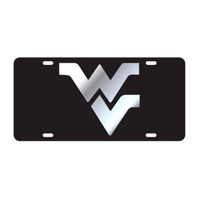 West Virginia License Plate Black/Silver WV Logo
