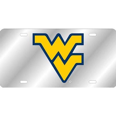 West Virginia License Plate Silver/Yellow WV Logo