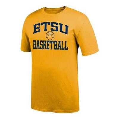 ETSU Arch Basketball Tee Shirt GOLD