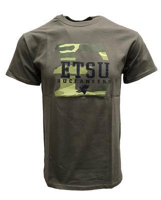 ETSU Camo Fill Logo T-Shirt GRAPHITE