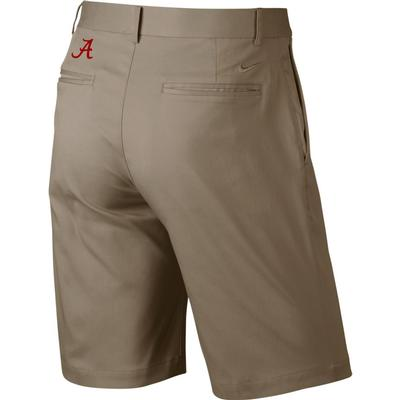 Alabama Nike Golf Flat Front Shorts KHAKI