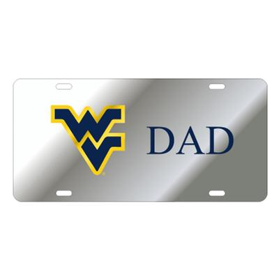 West Virginia License Plate Silver WV Dad