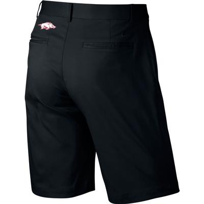 Arkansas Nike Golf Flat Front Shorts BLACK