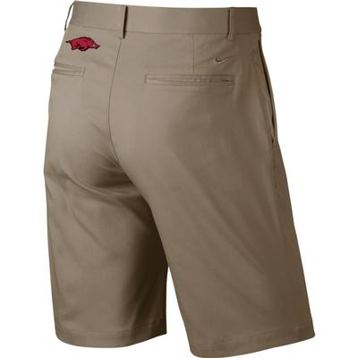 Arkansas Nike Golf Flat Front Shorts KHAKI