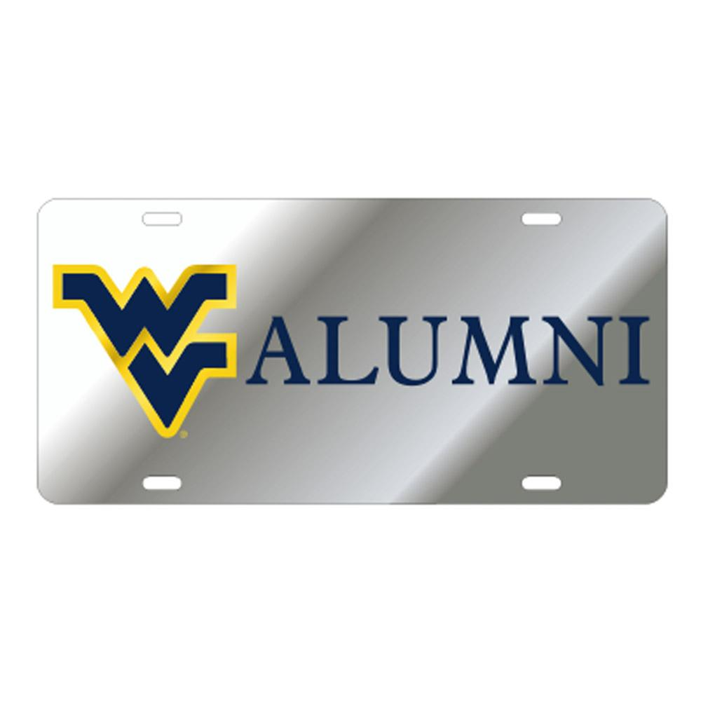 West Virginia License Plate Silver Wv Alumni