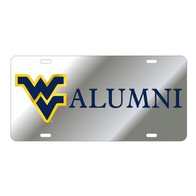 West Virginia License Plate Silver WV Alumni