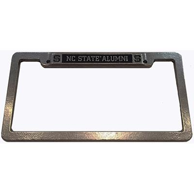 NC State Alumni Pewter License Plate Frame