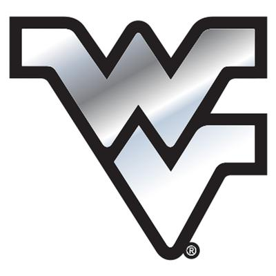 West Virginia Car Magnet Chrome WV Logo 3