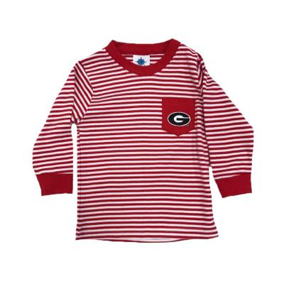 Georgia Toddler Striped Long Sleeve Pocket Tee