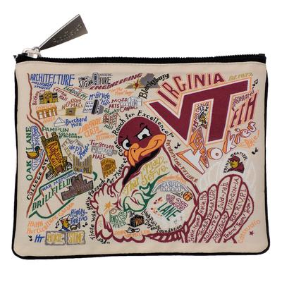 Virginia Tech Catstudio Woven Pouch