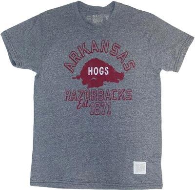 Arkansas Retro Running Hog Logo Tee