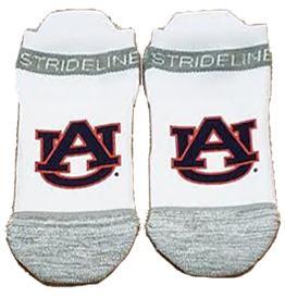 Auburn Strideline Logo No Show Socks